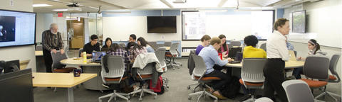 Image of students working in groups