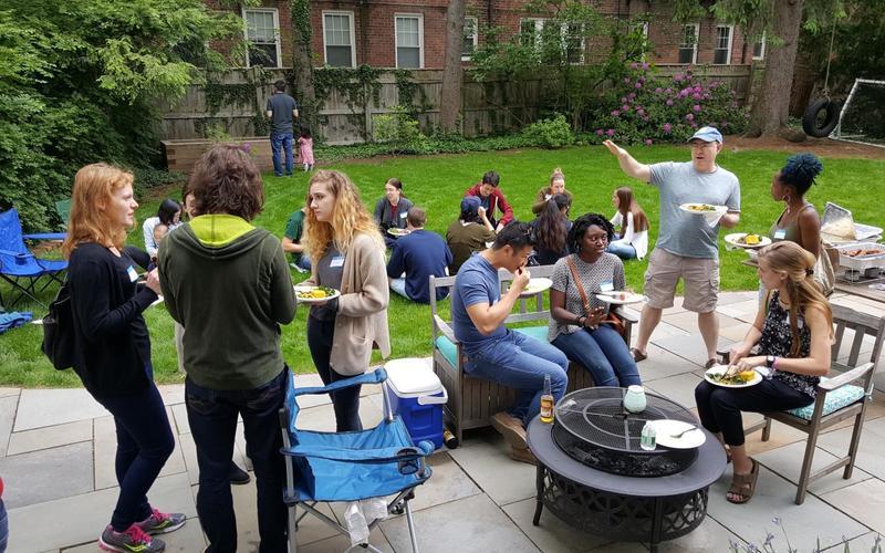 REU welcoming picnic