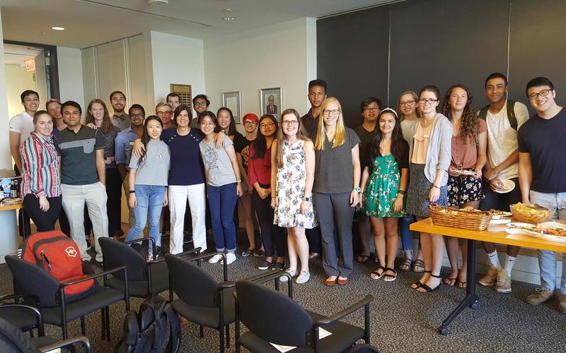 REU social with PEB graduate students