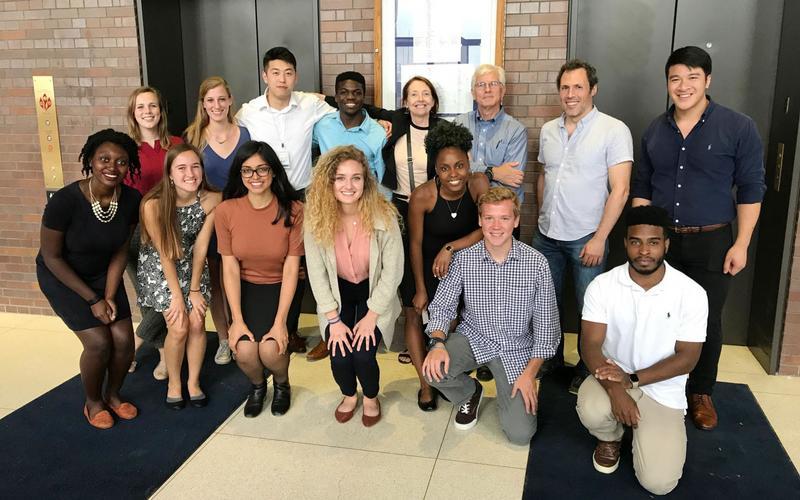 Group photo at undergraduate research symposium.