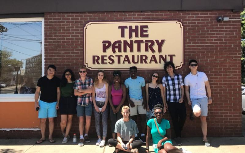 REU students' favorite breakfast place in town.